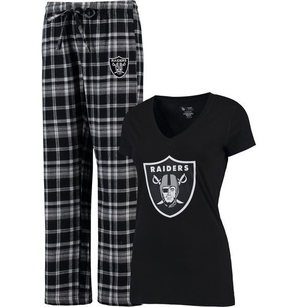 Men/'s Tiebreaker Oakland Raiders Pants and Top Pajama Sleep Set