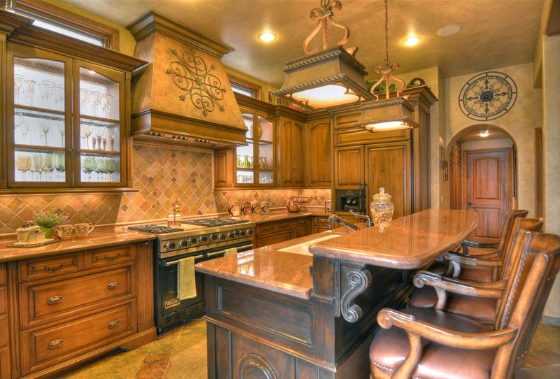 superior Tuscan Kitchen Designs Photo Gallery #2: 1000+ images about Tuscan Kitchens on Pinterest | Medium kitchen, Mediterranean kitchen and Kitchen designs