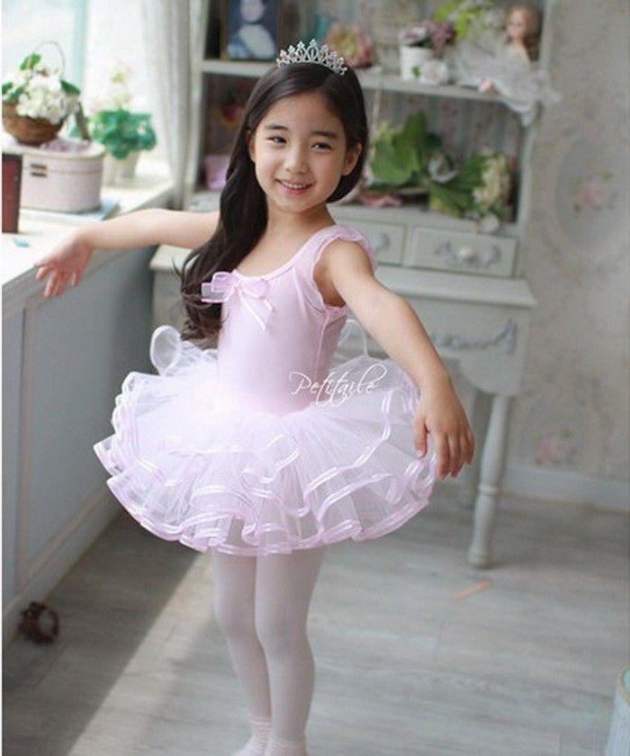 New Infant Girls Ballet Dress Tutu Leotard Dance Gymnastics Strap Clothes Outfit