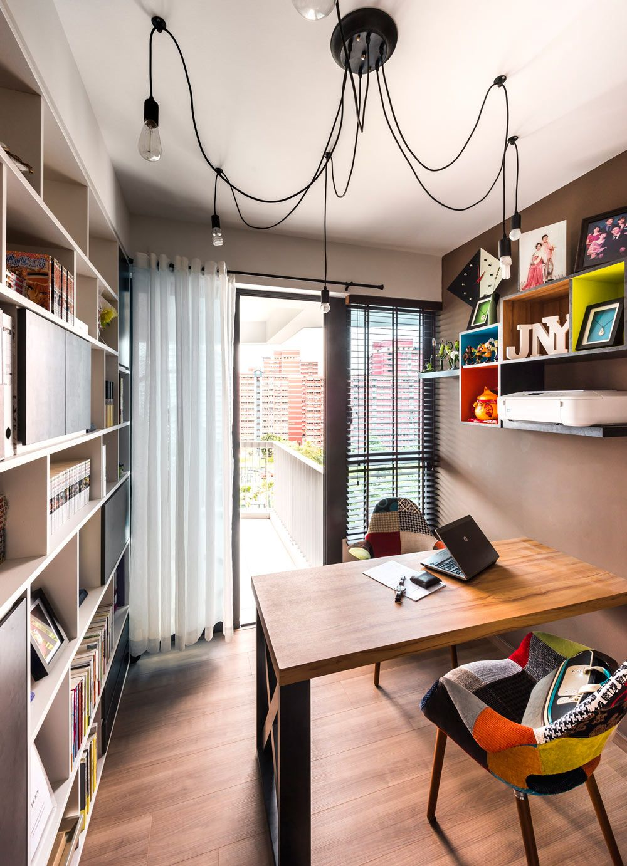 Beylsa industrial condominium interior design study room with balcony