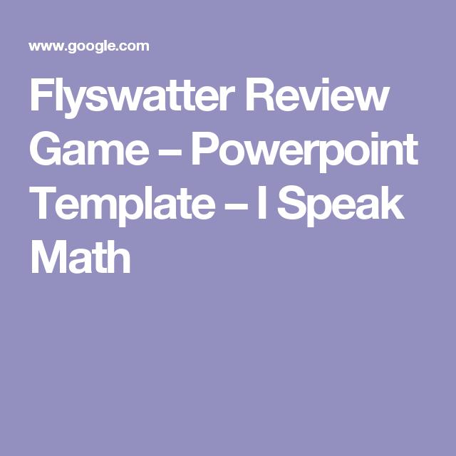 Flyswatter review game powerpoint template i speak math flyswatter review game powerpoint template i speak math toneelgroepblik Images