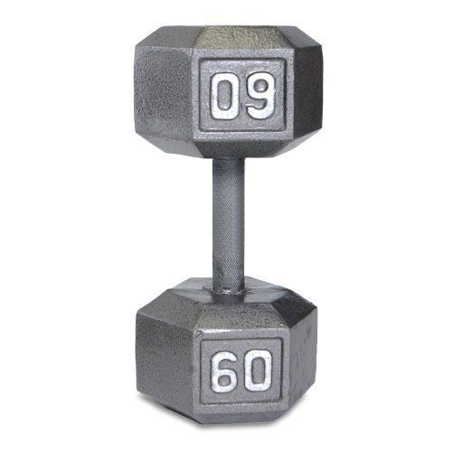 GOLDS GYM 15 lbs Dumbbell Weight Rubber Hex Hexagon Single Exercise Workout New