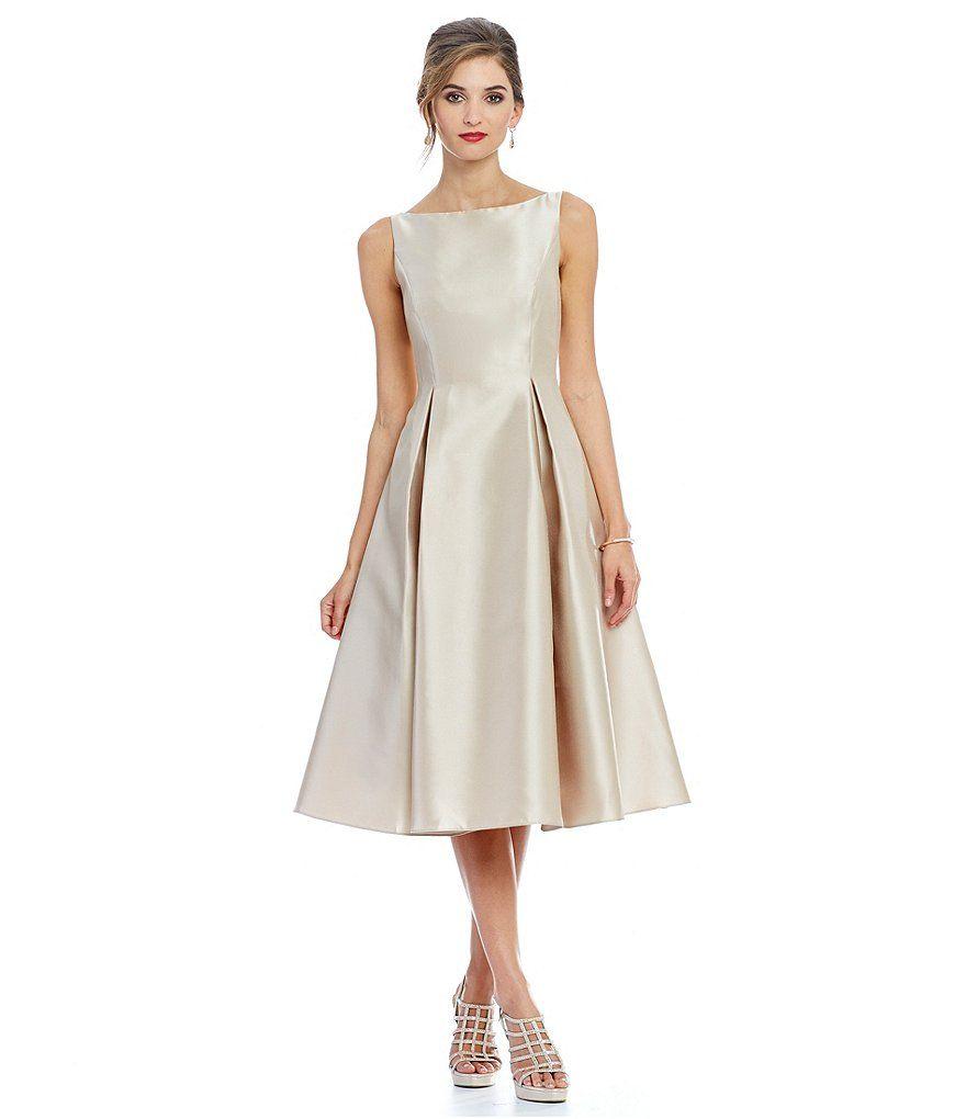 Shop For Adrianna Papell Sleeveless Midi Taffeta Dress At Dillards