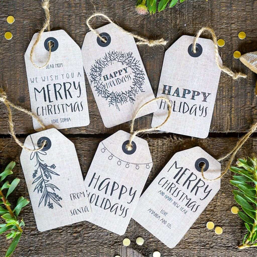 Christmas Kraft Tags Personalized Christmas Labels