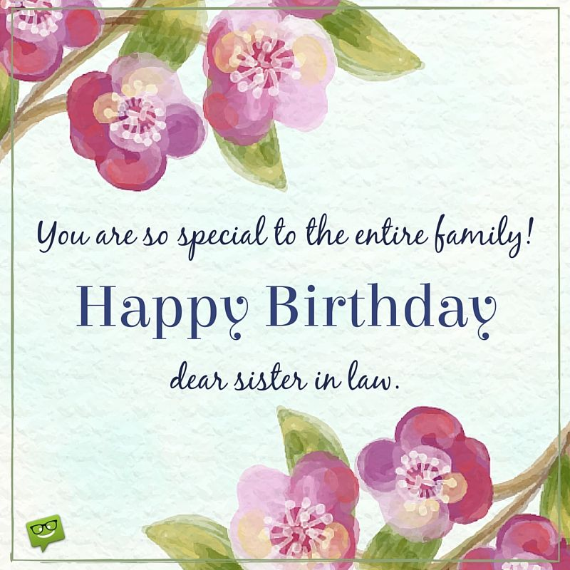You Are So Special To The Entire Family. Happy Birthday