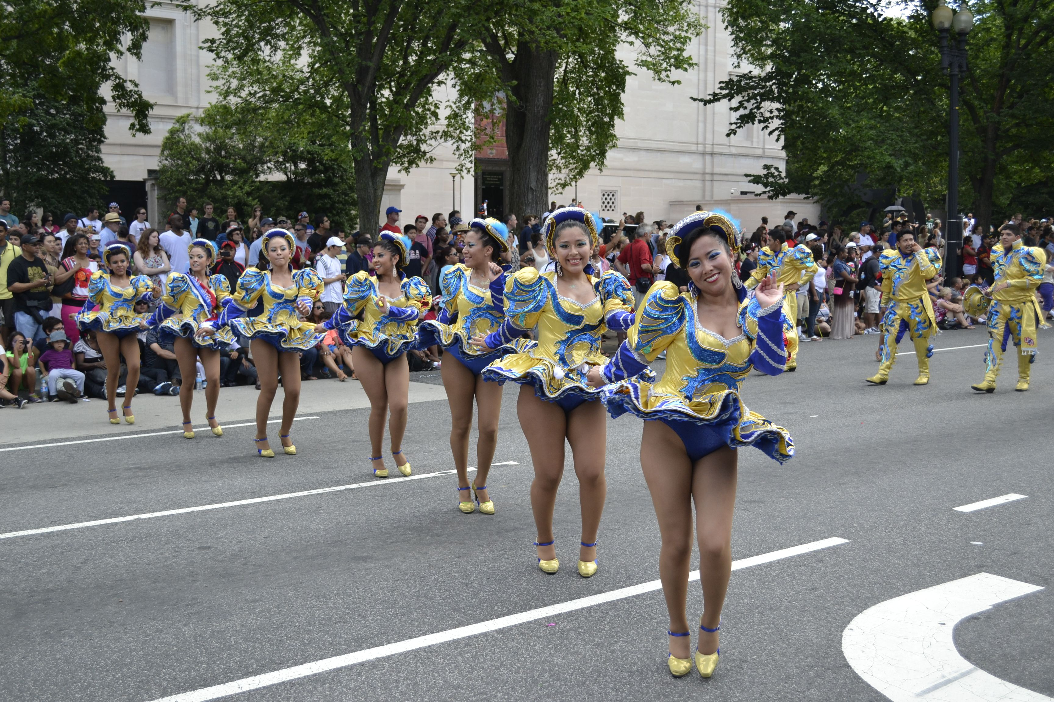 OH YES! A lovely row of leggy Caporales dancers!!