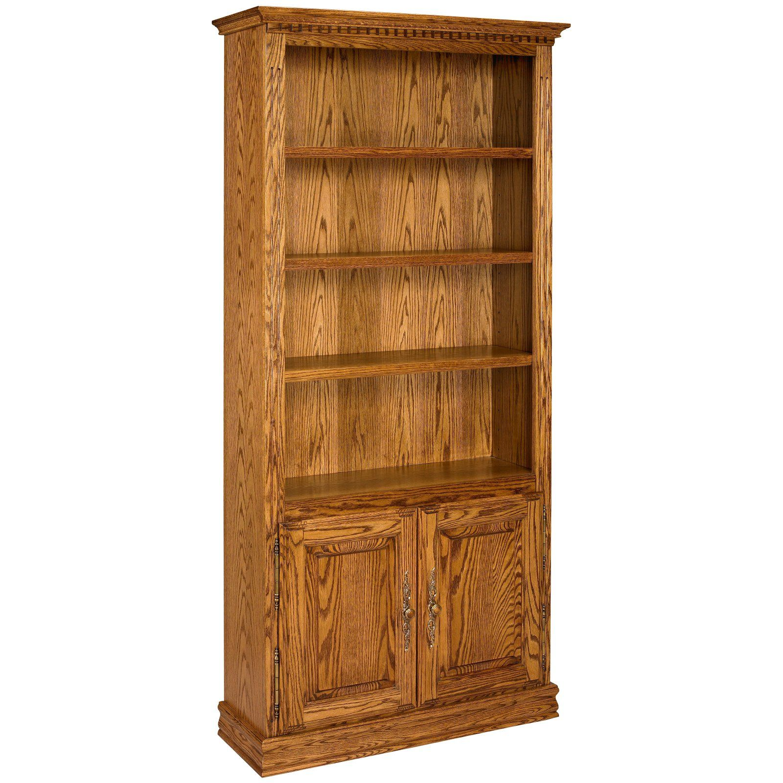 100 Solid Wood Bookcase 8ft Tall White Painted Waxed Alcove Adjustable Display Shelving Unit Bookshelves With Cupboard Bookcase Wood Bookcase Bookshelves
