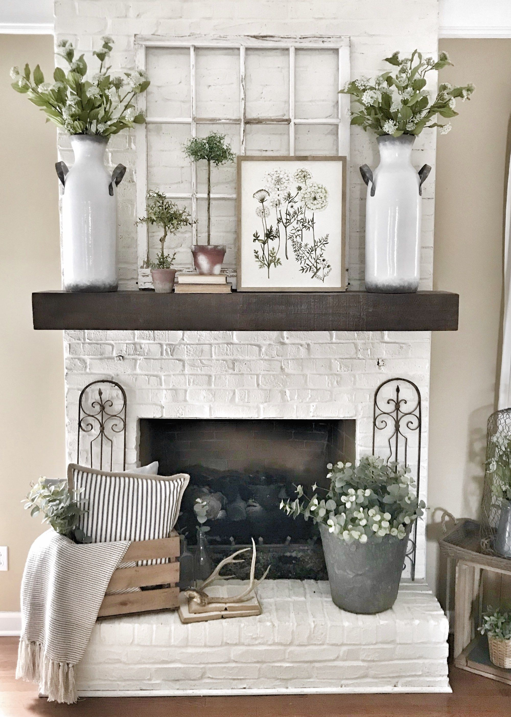 My Pottery Barn Shelf Mantel Hack Bless This Nest Pottery Barn Shelves Farm House Living Room Fireplace Mantel Decor