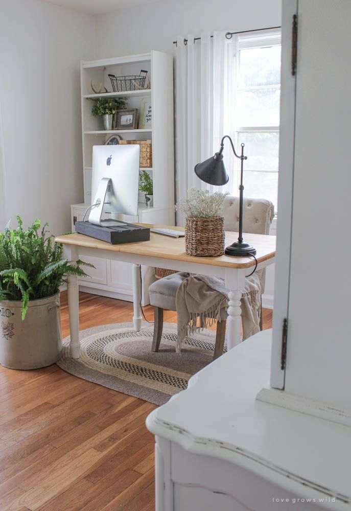 home office makeover pinterest. A Must-see Makeover! Check Out The Transformation Of This Gorgeous Home  Office Decorated With Vintage Finds And Tons Farmhouse Charm At Makeover Pinterest