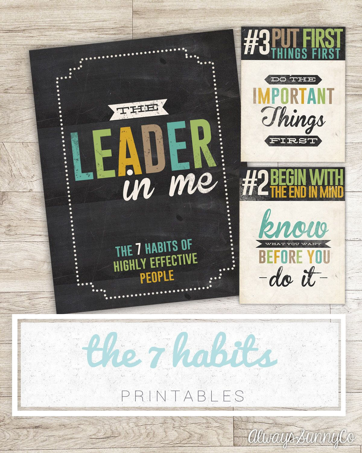 Classroom Printables 7 Habits Of Highly Effective People