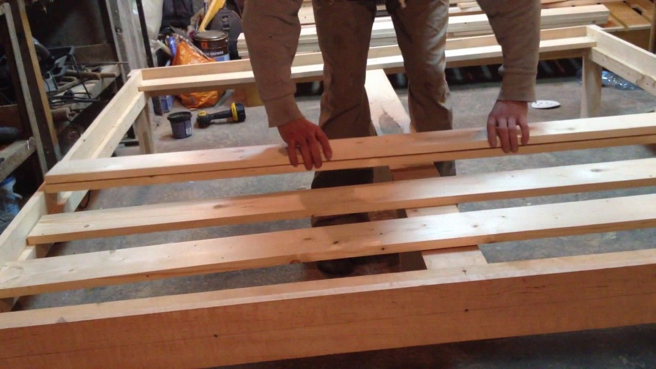 Queen Size Bed Frame DIY Diy bed frame, Queen size bed