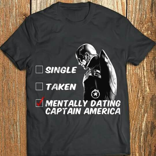 51246299b Nurse? No I'm just mentally dating Captain America! Super Hero Love! Most  perfect shirt! I need this shirt!