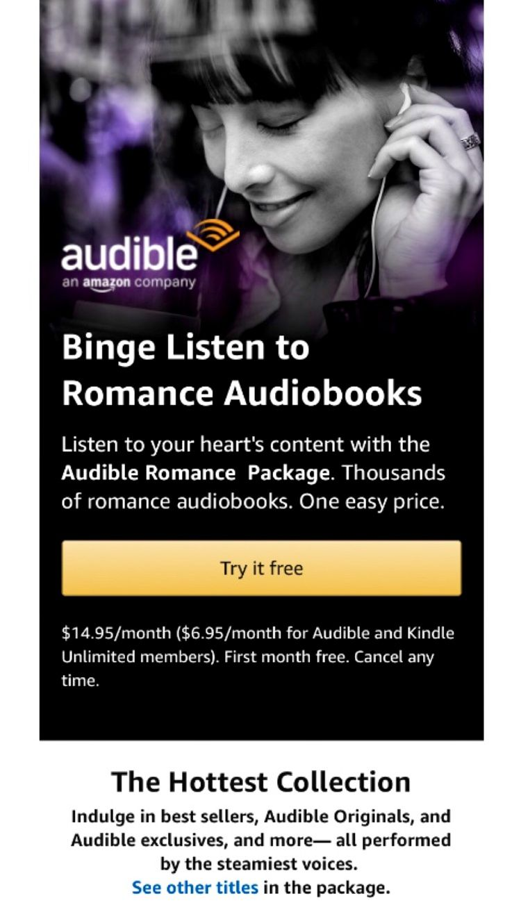 Binge Listen to Romance Audiobooks Listen to your heart's content