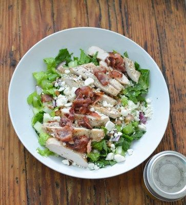 Grilled Chicken Salad recipe with a tangy apple cider vinaigrette