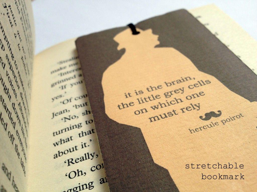 Hercule poirot inspired stretchable bookmark hercule