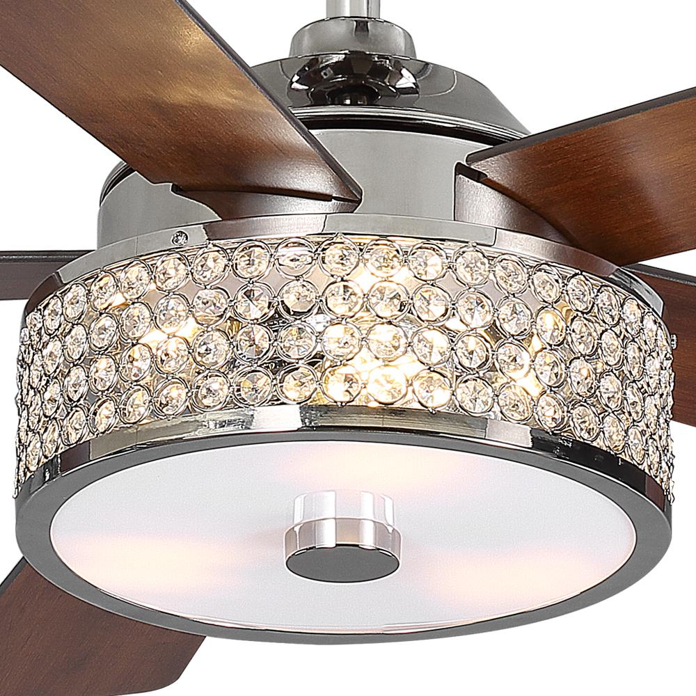 Home Decorators Collection Montclaire 52 In Led Polished Nickel Ceiling Fan With Light Kit And Remote Control 518 In 2020 Ceiling Fan With Light Fan Light Ceiling Fan