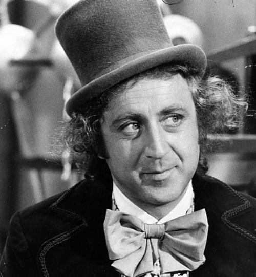 Gene Wilder (Willy Wonka), 1971.