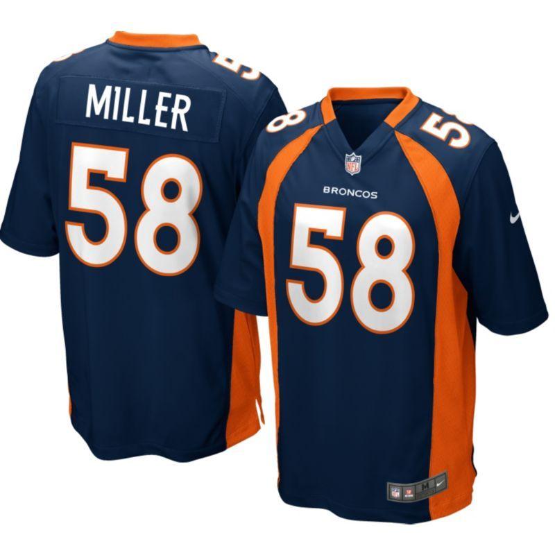 007a2bc49 Nike Men s Alternate Game Jersey Denver Broncos Von Miller  58 ...