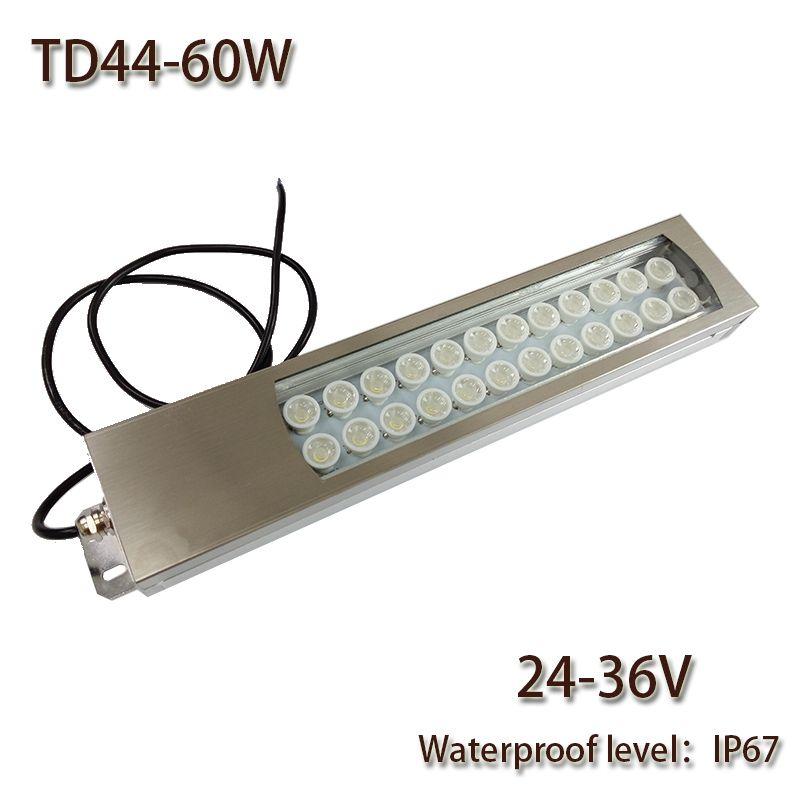 Hntd 60w Led Panel Light Dc 24v 36v 48v Concentrating Metal Led Work Light Td44 Cnc Machine Work Tool Lighting Water Led Panel Light Work Tools Led Work Light