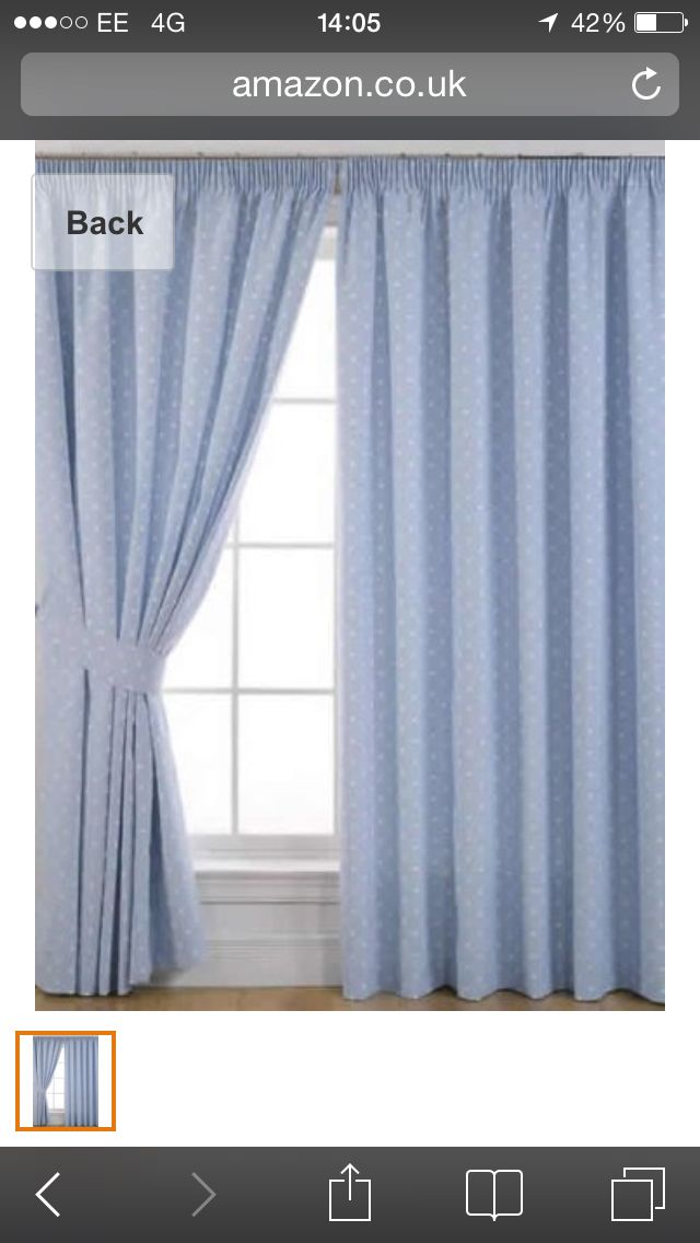 Blue Spot Dotty Pleated Curtains