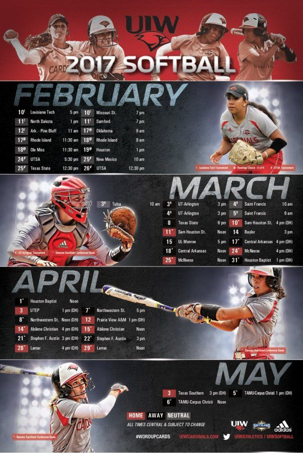 Top25 College Softball Schedule Posters! Sports graphic