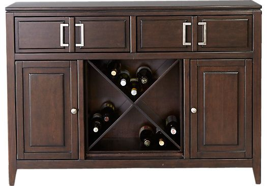 Sofia Vergara Santa Clarita Dark Cherry Server Servers Furniture Cherry Server Dining Room Buffet
