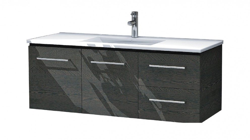 Bathroom Vanities Austin timberline austin 1200 woodgrain wall hung vanity - bathroom