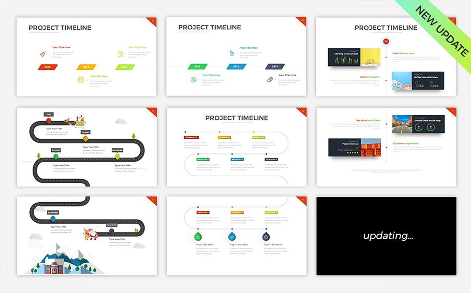 Project Timeline v5 - PowerPoint Template | Design Ideas For Small