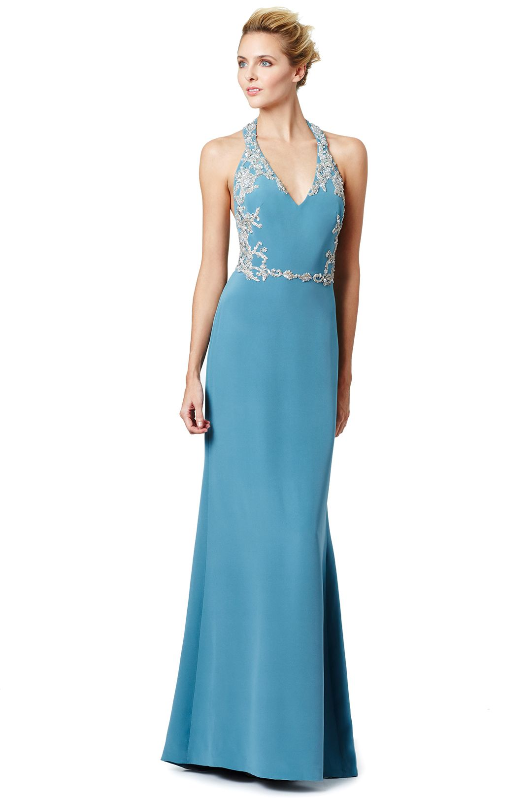 Blue Miranda Gown | Marchesa, Gowns and Prom