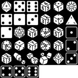 33 Dice icons | Game-icons.net | Icon, Craft materials, Crafts