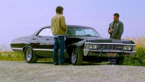 Sam, Dean and the Impala.