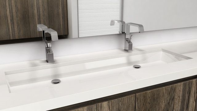 Large undermount bathroom trough sink | Modern bathroom ...