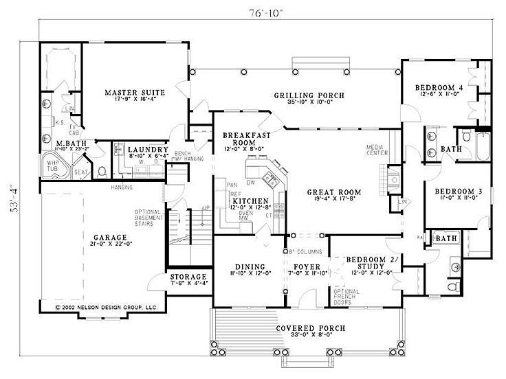4 bedroom with bonus room over whole house 2300 sq ft for House plans one story with bonus room