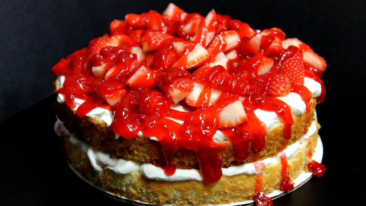 Quick and easy strawberry angel food cake cooking videos food quick and easy strawberry angel forumfinder Choice Image