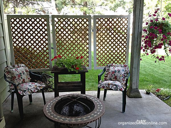 How To Make An Easy Patio Privacy Screen Easy Patio Diy Privacy Screen Backyard Privacy
