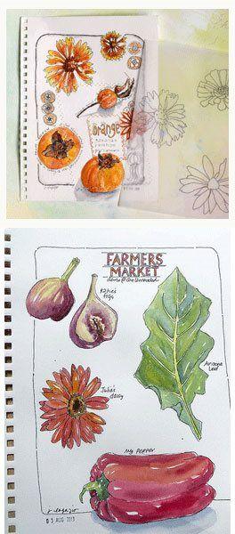 Art journal sketching tips from Jane LaFazio   ClothPaperScissors.com