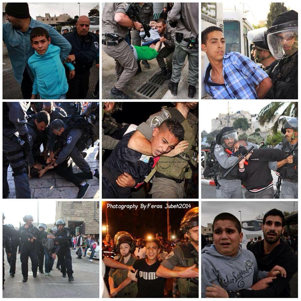 Israeli soldiers arrest a Palestinian child Terroristes