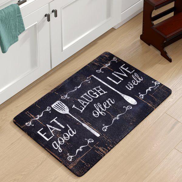 Chilton Oversized Eat Laugh Live Kitchen Mat With Images Kitchen Rugs Sink Kitchen Mat Kitchen Mats Floor