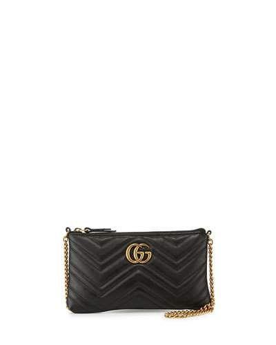 251b11096e03aa GUCCI Gg Marmont Mini Matelassé Chain Bag, Black. #gucci #bags #shoulder  bags #leather #crossbody #