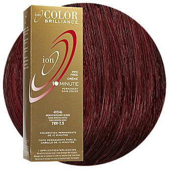 Ion Color Brilliance Permanent Creme 10 Minute Hair Color 7rv