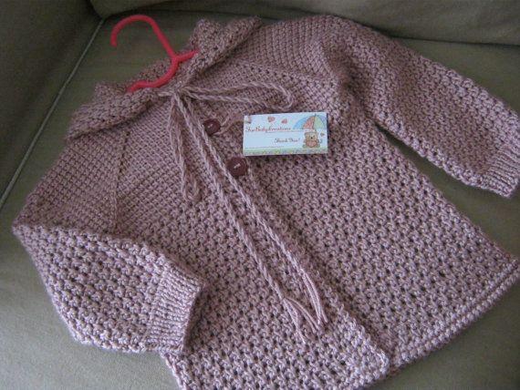1c8fffbf492f CUSTOM ORDER for Candace - SIZE 3T - Pink Rose Crochet Girl Sweater ...