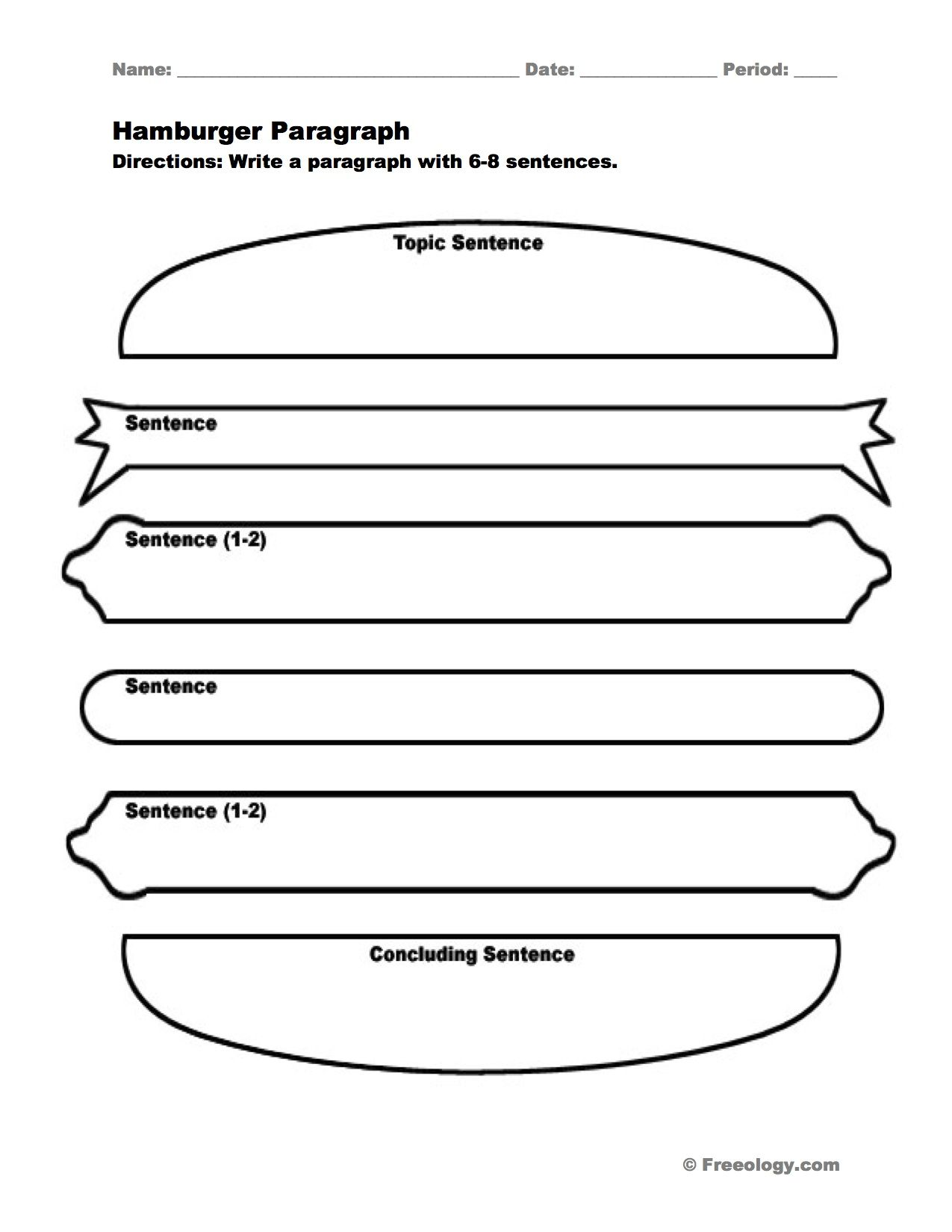 Worksheets Hamburger Paragraph Worksheet hamburger paragraph i love this graphic organizer to help students write nice full paragraphs