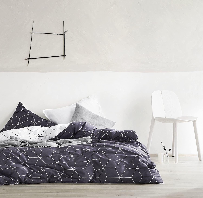 Eikei Home Minimal Style Geometric Shapes Duvet Quilt Cover Modern Scandinavian Design Bedding Set 100 Percent Cot In 2020 Geometric Bedding Bed Design Geometric Decor