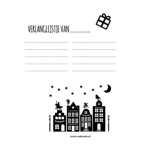 Verlanglijstje Sinterklaas - gratis printable - van Kootje