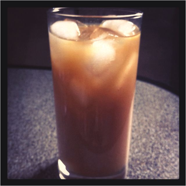 Homemade Iced Soy Latte