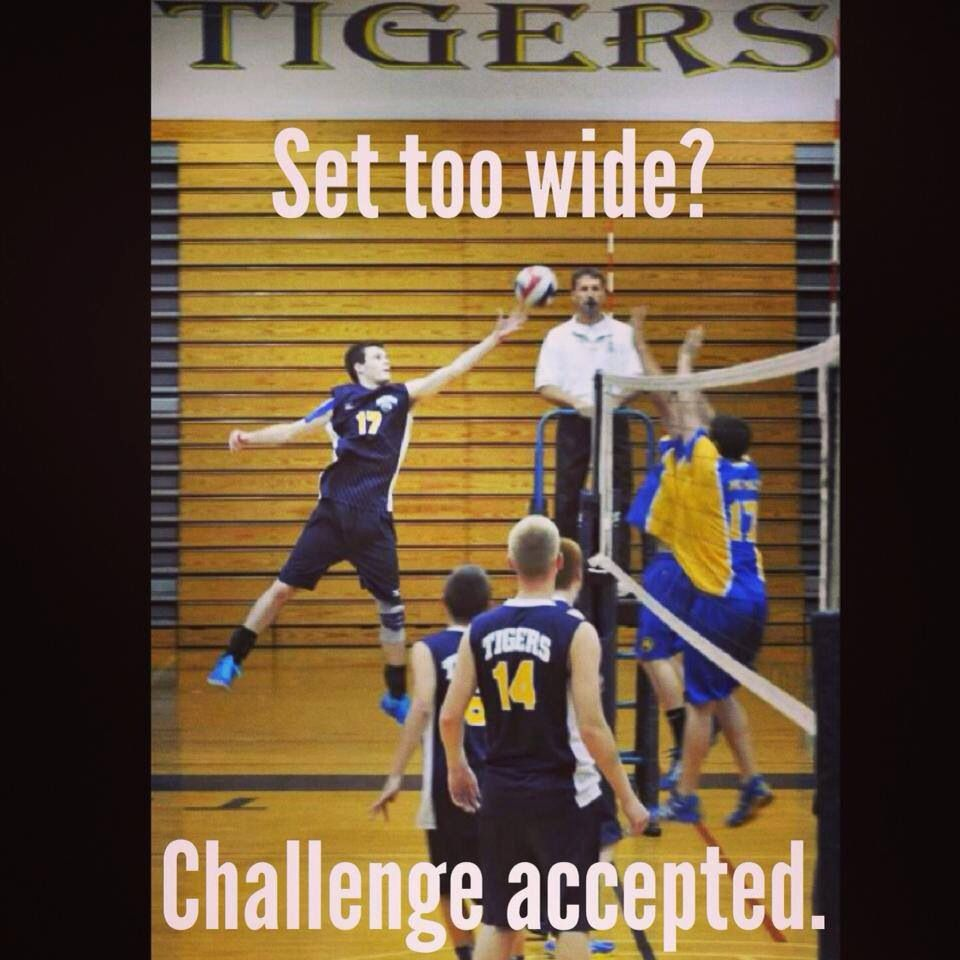 Challenge Accepted Volleyball Inspiration Volleyball Memes Volleyball Photos