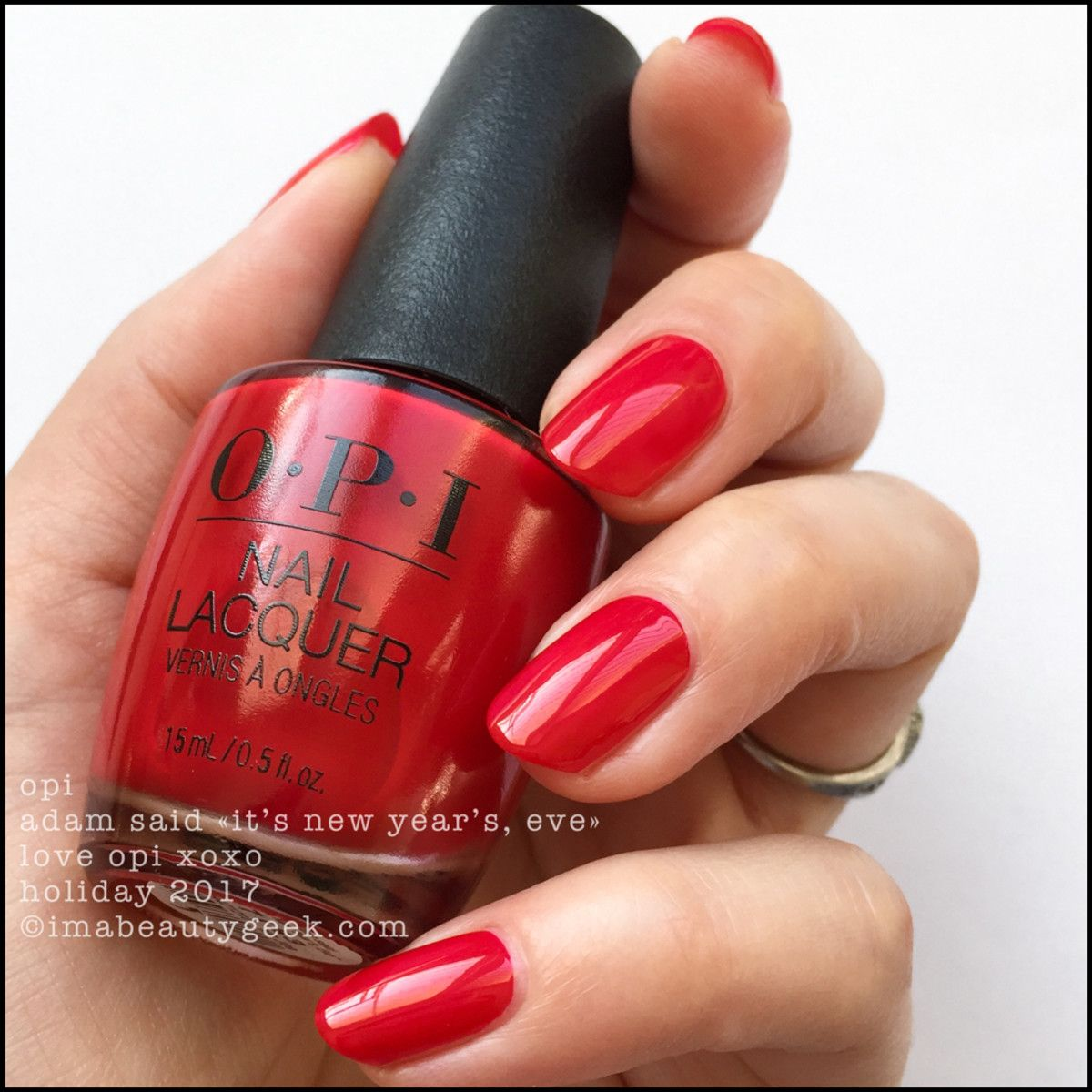 LOVE OPI XOXO HOLIDAY 2017 SWATCHES & REVIEW Opi red
