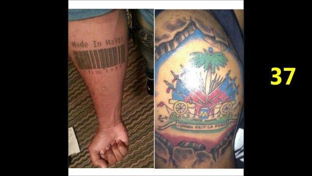 Unique Haitian Tattoo Made In Haiti Permanent Bodii Candii