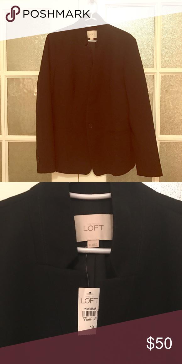 NWT LOFT On Duty black blazer Brand new, never worn black perfect blazer from LOFT. Classic jacket with modern touch. LOFT Jackets & Coats Blazers