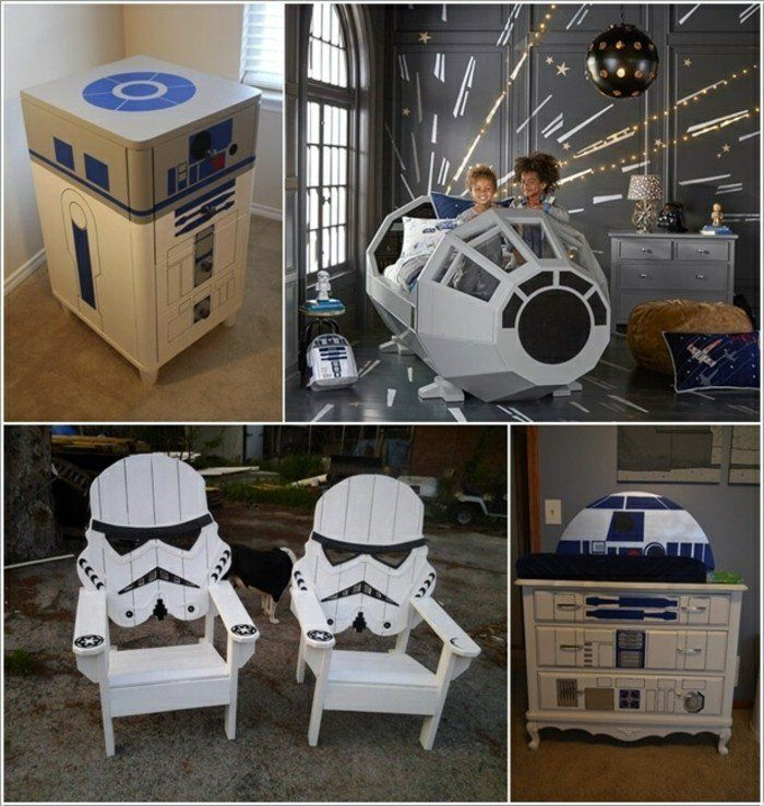 45 id es de d coration de chambre star wars chambre star. Black Bedroom Furniture Sets. Home Design Ideas